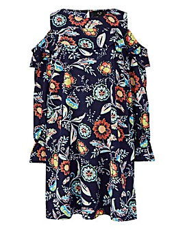 AX Paris Print Cold Shoulder Tunic