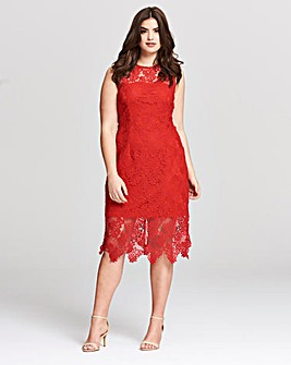 AX Paris Stretch Lace Midi Dress
