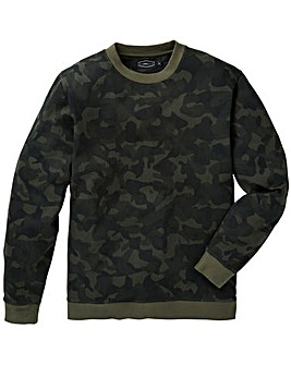 Label J Camo Print Crew Sweat Long