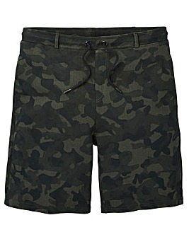 Label J Camo Print Sweat Short