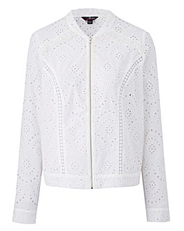 Lovedrobe Frindged Broderie Jacket