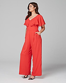 Lovedrobe Frilled Sleeve Jumpsuit