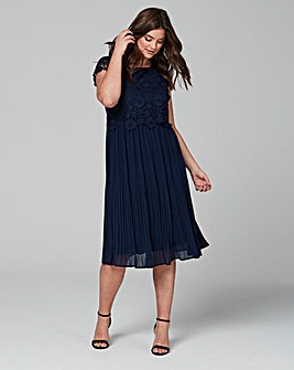 Lovedrobe Crochet Pleated Dress