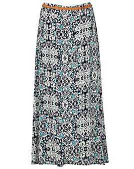 Samya Patterned Belt Skirt