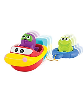 Pull and Go Bath Boat Set