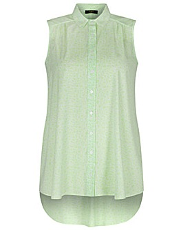 Koko Lime Green Sleeveless Shirt