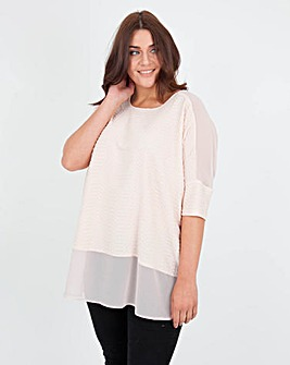 Koko Textured Sheer Panel Top