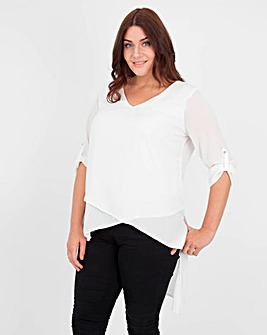 Koko Diagonal Cut Long Sleeve Top