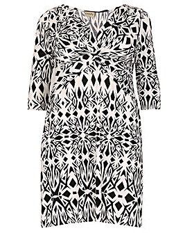 emily Knot Front Printed Dress