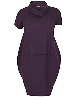 Feverfish Funnel Neck Dress