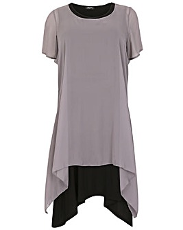 Feverfish Chiffon Layer Tunic