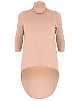 Samya High Low Roll Neck Top