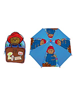 Paddington Bear Backpack & Umbrella