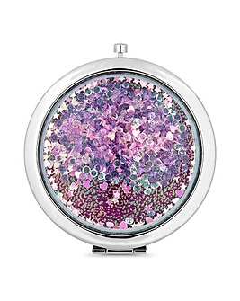 Mood Pink Crystal Shaker Compact Mirror