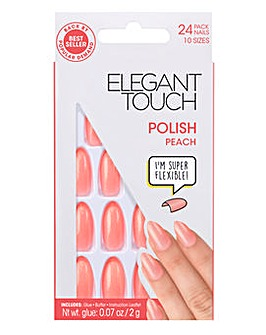 Elegant Touch Polished Nail Peach