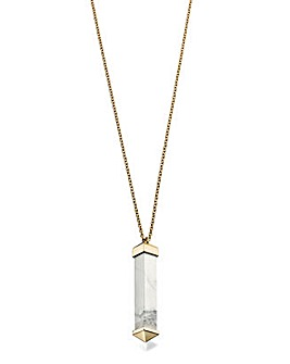 Marble Bar Pendant Necklace