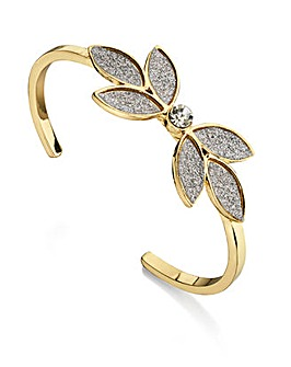 Fiorelli Costume glitter flower bangle