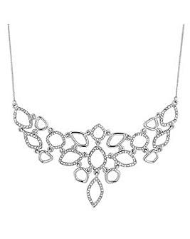 Jon Richard Open ring pave drop necklace