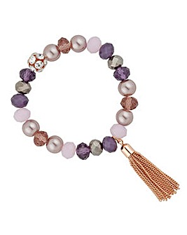 Jon Richard Purple tassel bracelet