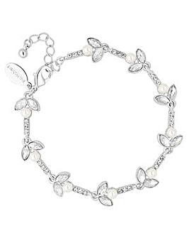 Jon Richard Silver leaf pearl bracelet