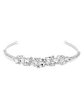 Jon Richard Silver crystal headband