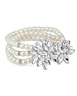 Alan Hannah multi row pearl bracelet