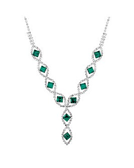 Jon Richard Green diamante necklace