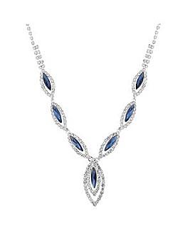 Jon Richard diamante crystal y necklace