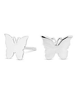 Simply Silver butterfly stud earring