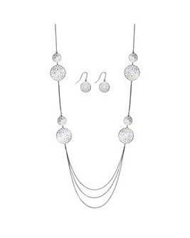 Jon Richard multi row jewellery set