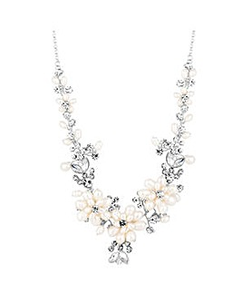 Alan Hannah pearl blossom wrap necklace