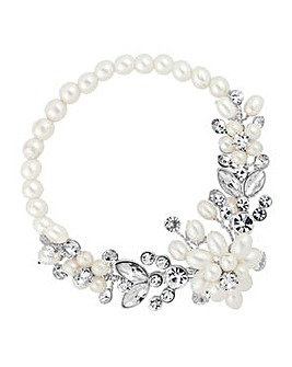Alan Hannah pearl blossom wrap bracelet