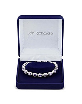Jon Richard Purple peardrop bracelet