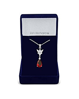 Jon Richard Red peardrop leaf necklace