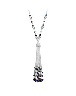 Jon Richard Purple tassel necklace