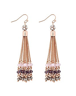Jon Richard Purple chain drop earring