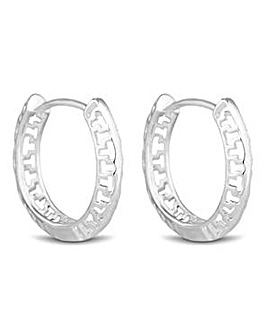 Simply Silver cut out hoop earring