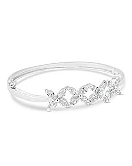 Jon Richard Silver floral row bangle