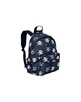 Trespass Black & Grey Skulls Backpack.