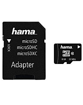 Hama microSDHC 8GB + Adapter