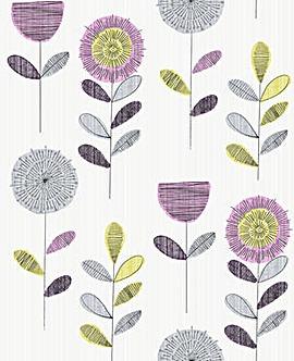 Flower Sketch Pink