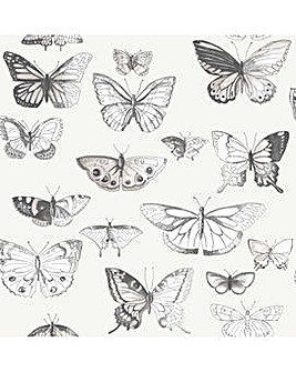 Butterflies Taupe/Cream