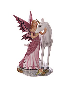 Mystical Friend Unicorn and Fairy Figure