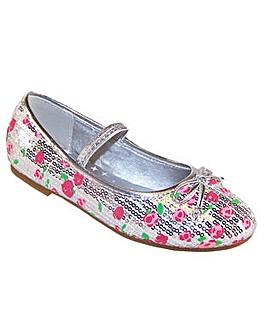 Sparkle Club Silver Sparkle Shoes