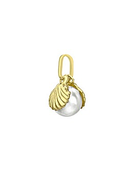 9ct Gold Shell and Pearl Charm