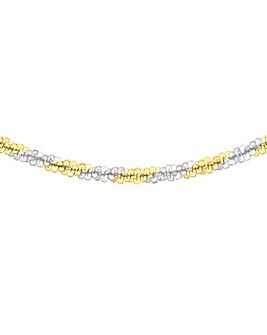 9Ct Gold Two Tone Criss Cross Chain