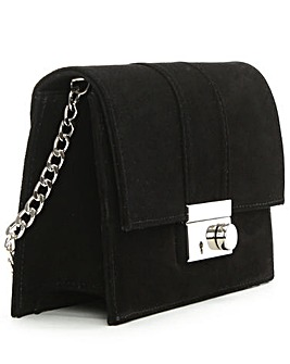 Daniel Ahand Black Suede Lock Bag