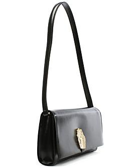 Cavalli Class  Leather Diamante Clutch