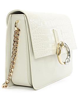 Cavalli Class white Leather Shoulder Bag