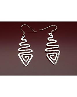 Sterling Silver Triple Wave  Earrings